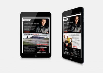 Email newsletter design – Bridgestone