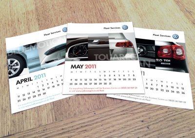 Calendar design – Volkswagen Fleet Services