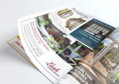 Brand advertising design – Lush Garden Design