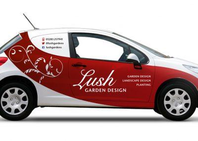 Vehicle wrap design – Lush Garden Design