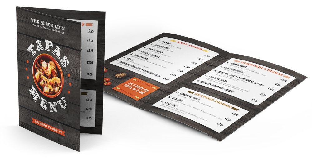 Keefomatic menu design