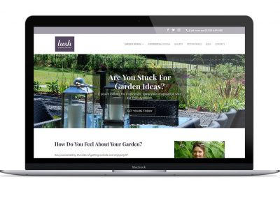 Website design and copywriting for Lush Garden Design